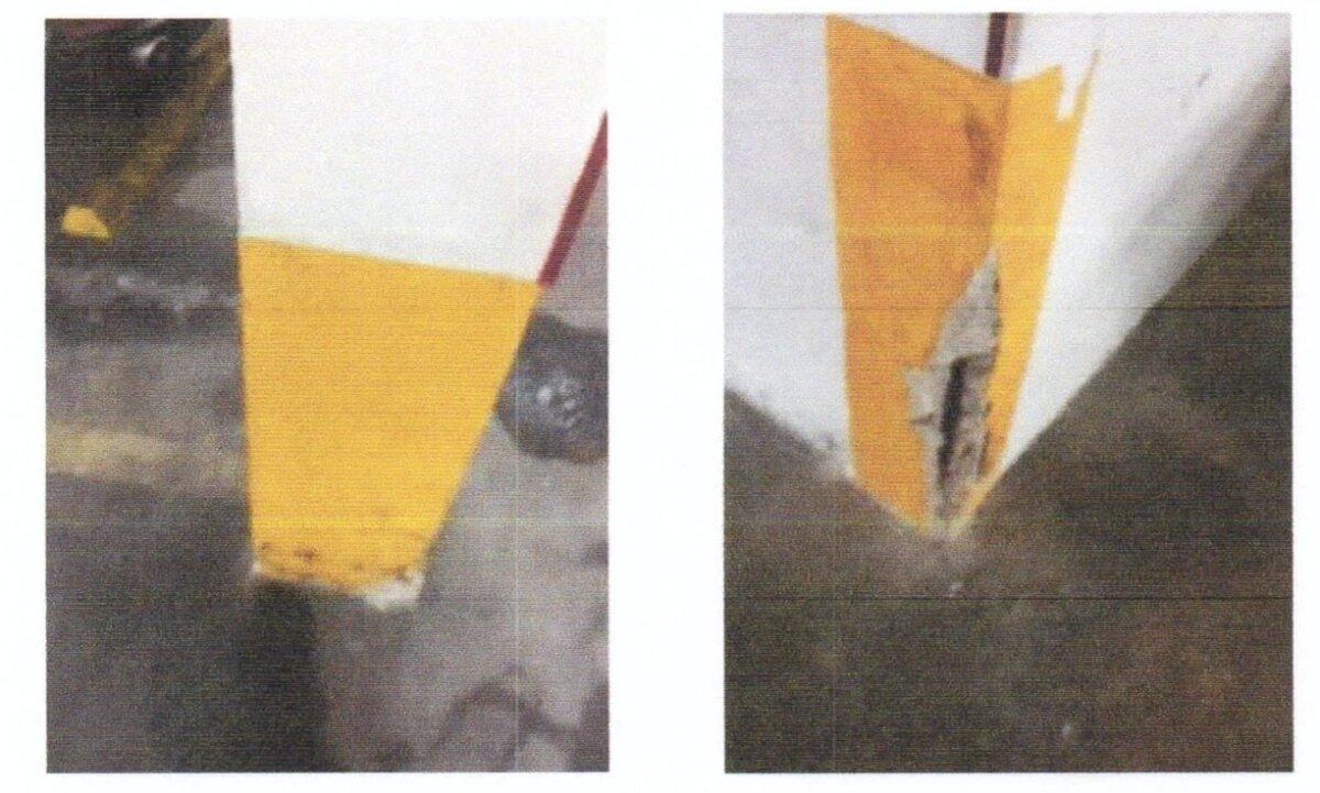Kahjustused parklakorruse sammastel