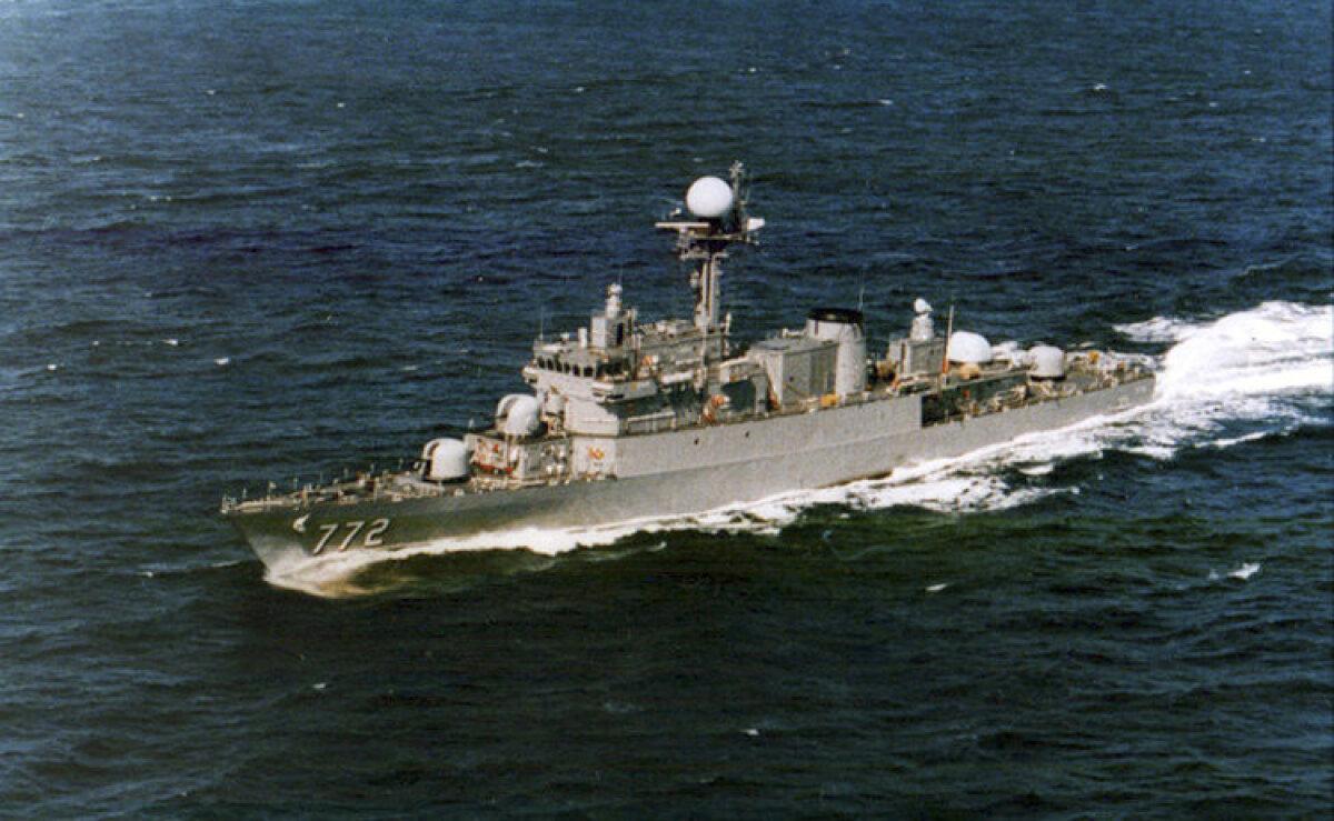 2010. aasta kevadel uputatud Lõuna-Korea sõjalaev Cheonan.