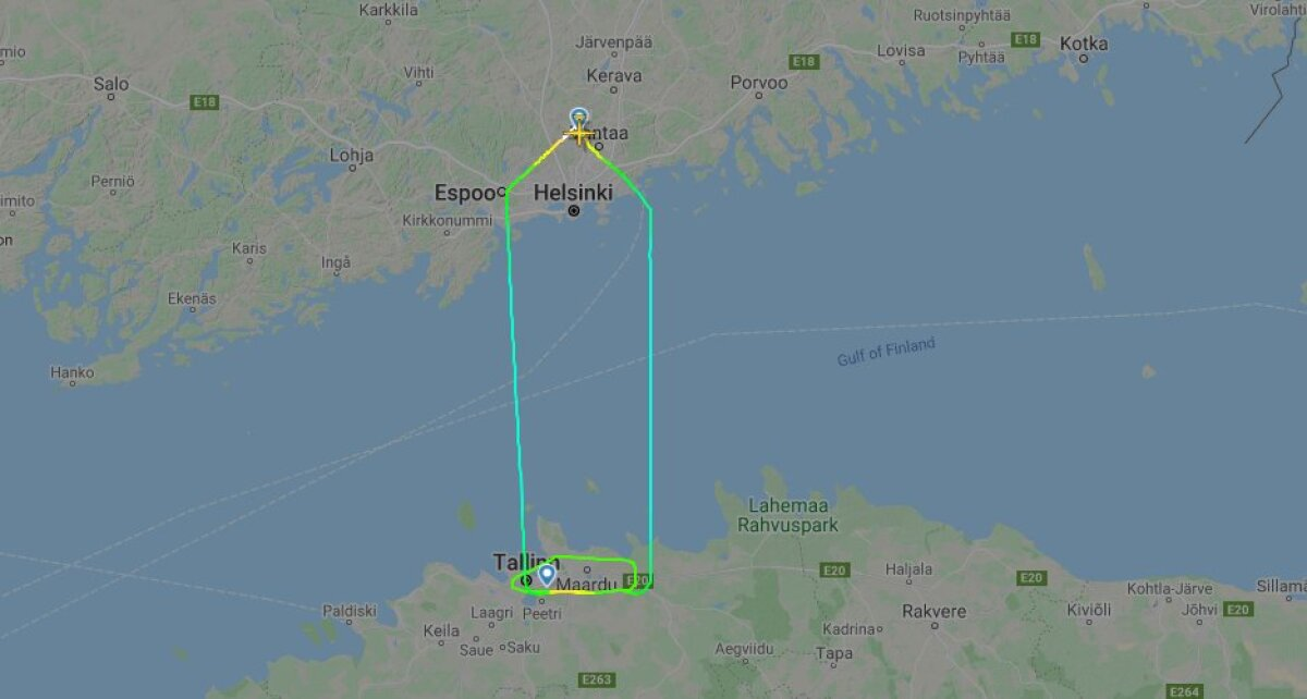 Lennuk pidi tagasi Soome lendama.