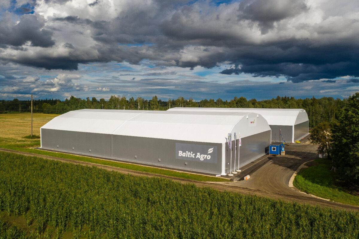 FinEst-Halli toodetud ja üles pandud Baltic Agro PVC-hall Põltsamaal.