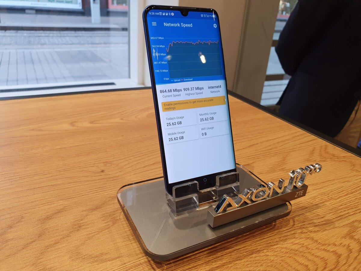 ZTE 5G nutitelefon - nagu näha, on kiirused päris suured