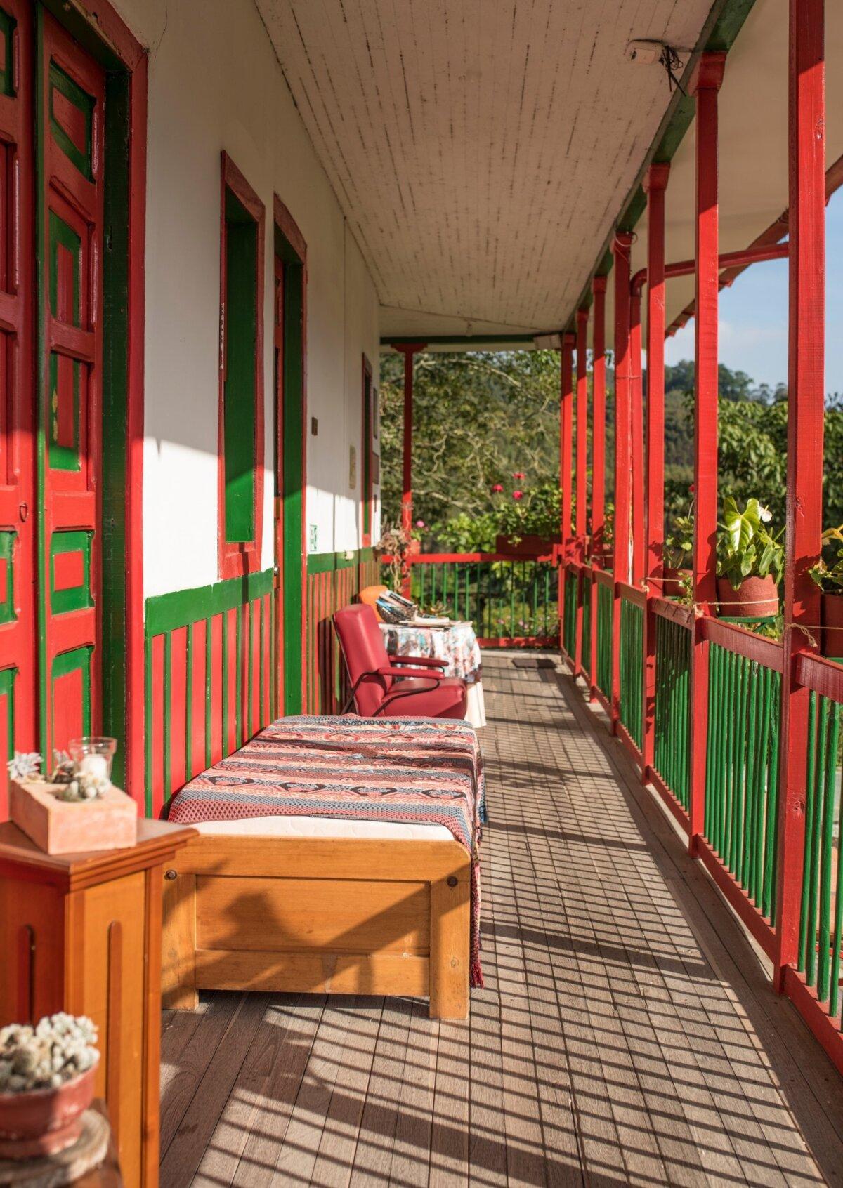 Kui kohvifarmeritele tähendab kohviistandus rasket tööd, siis turistile tõotab see unustamatut puhkust. Pildil Finca de Ocaso külalistemaja.