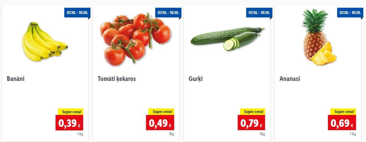 Lidli hinnad Lätis kuupäevadel 07.10–10.10