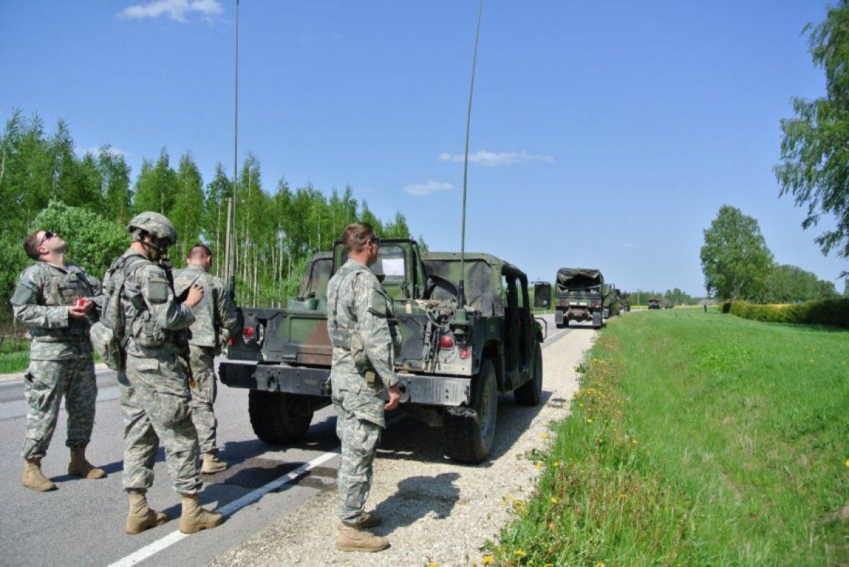 Колонна 173-й бригады на привале