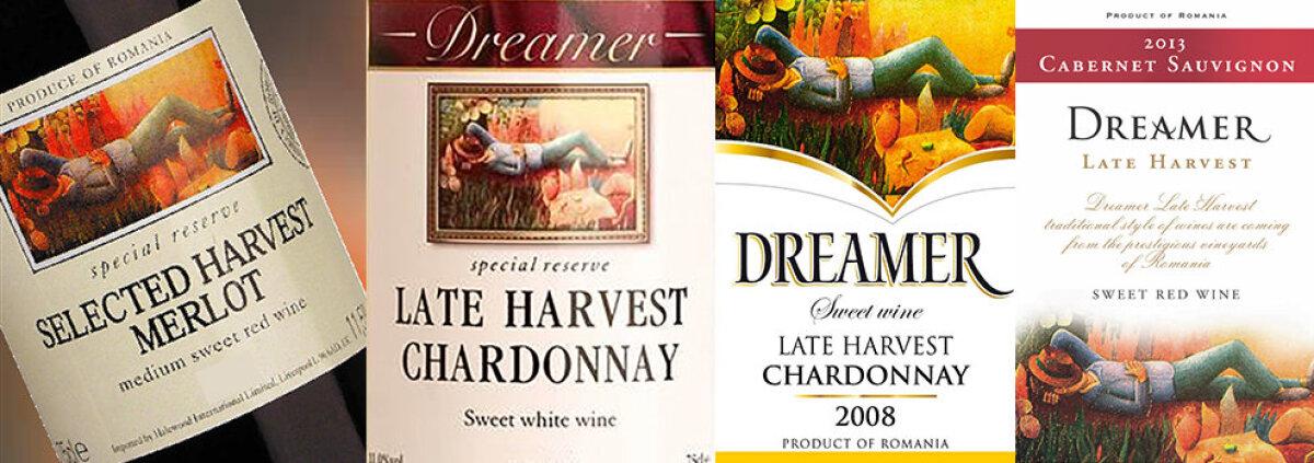 Dreamer veinide etiketid läbi aastate.