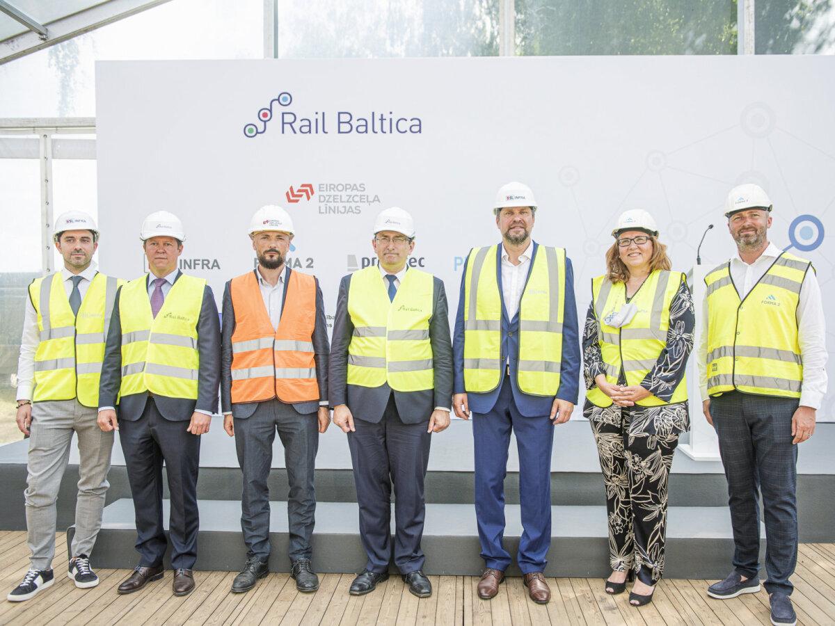 Rail Baltica raudteejaama ehitusprotsesside alguse avamistseremoonia