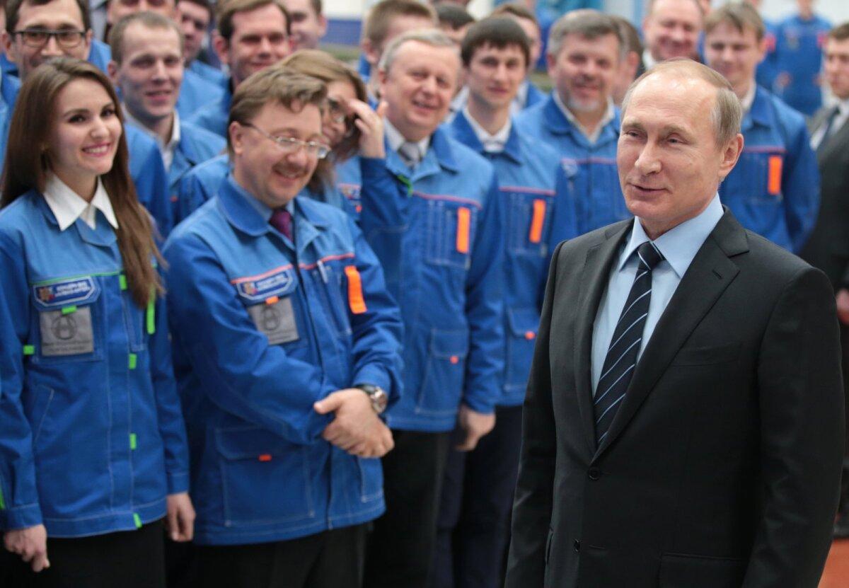 Putin 29. märtsil relvatehases