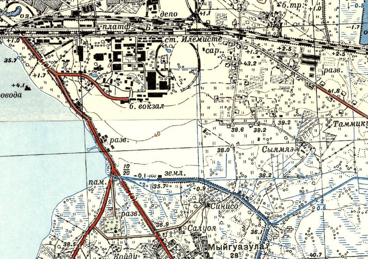 1947. aasta kaart: Lennuväli on täielikult salastatud.