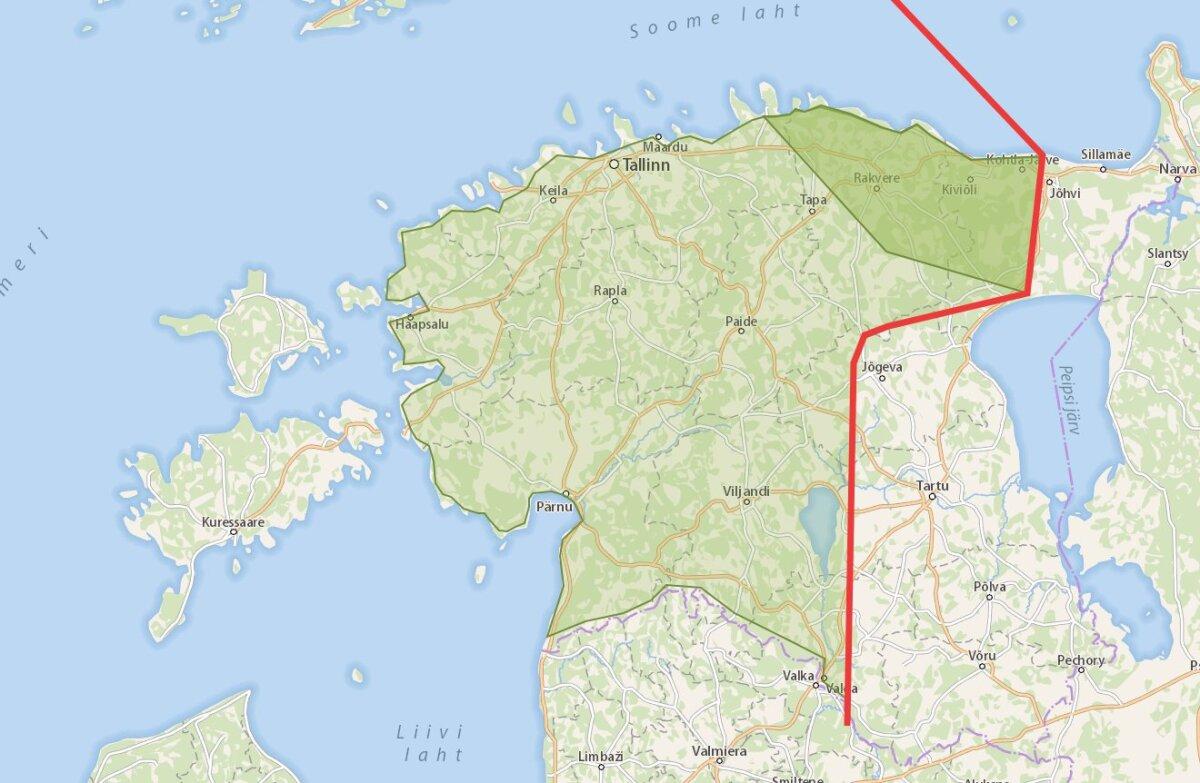 Tuuleparkideks sobivate alade kaart