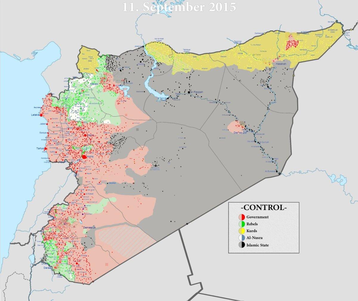 Süüria sõjatanner 11. septembril 2015