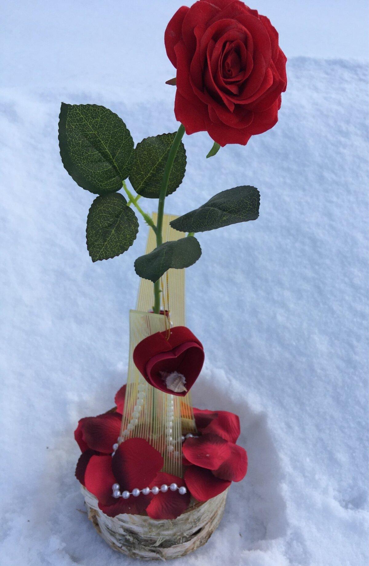 Kui tähtsal hetkel kipuvad sõnad sassi minema, võib lasta rääkida hoopiski lilledel. On ju punane roos armastuse sümbol, ja kui sinna lisada veel punane karbike sõrmusega, siis ei pea kaua mõtlema, millist ettepanekut on oodata.