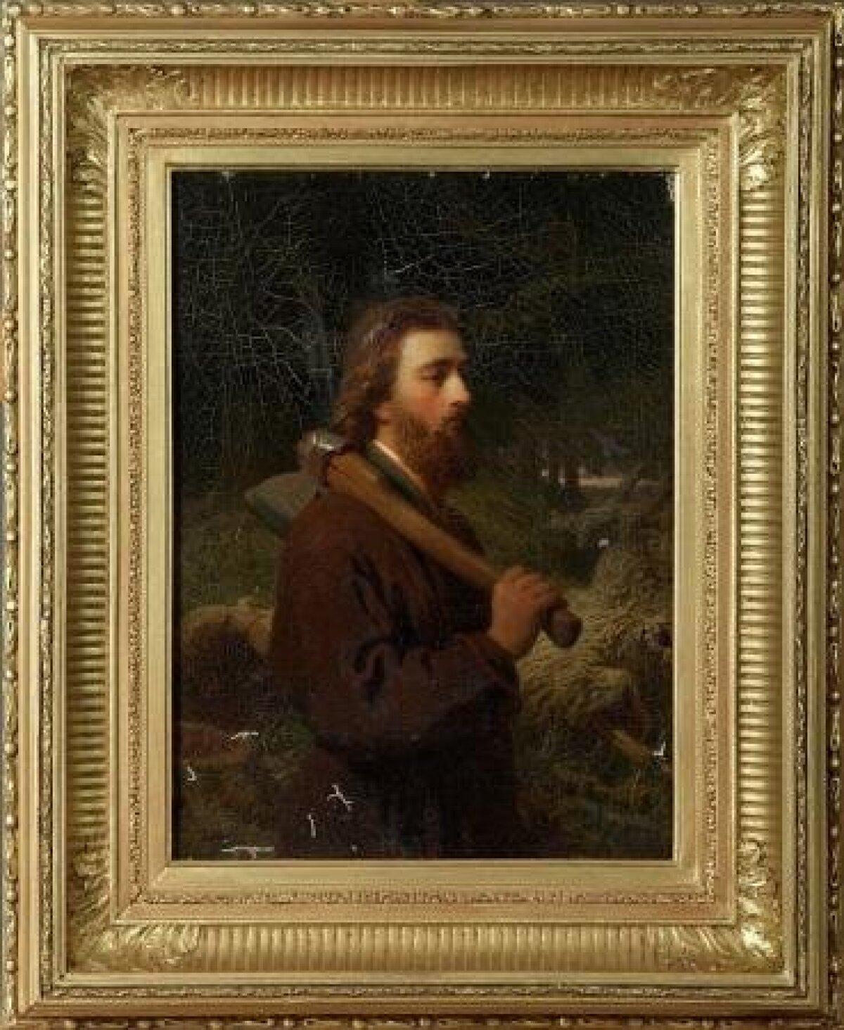 """Johann Köler. """"Hiiu saare talupoeg kirvega/Villem Tamme portree"""""""