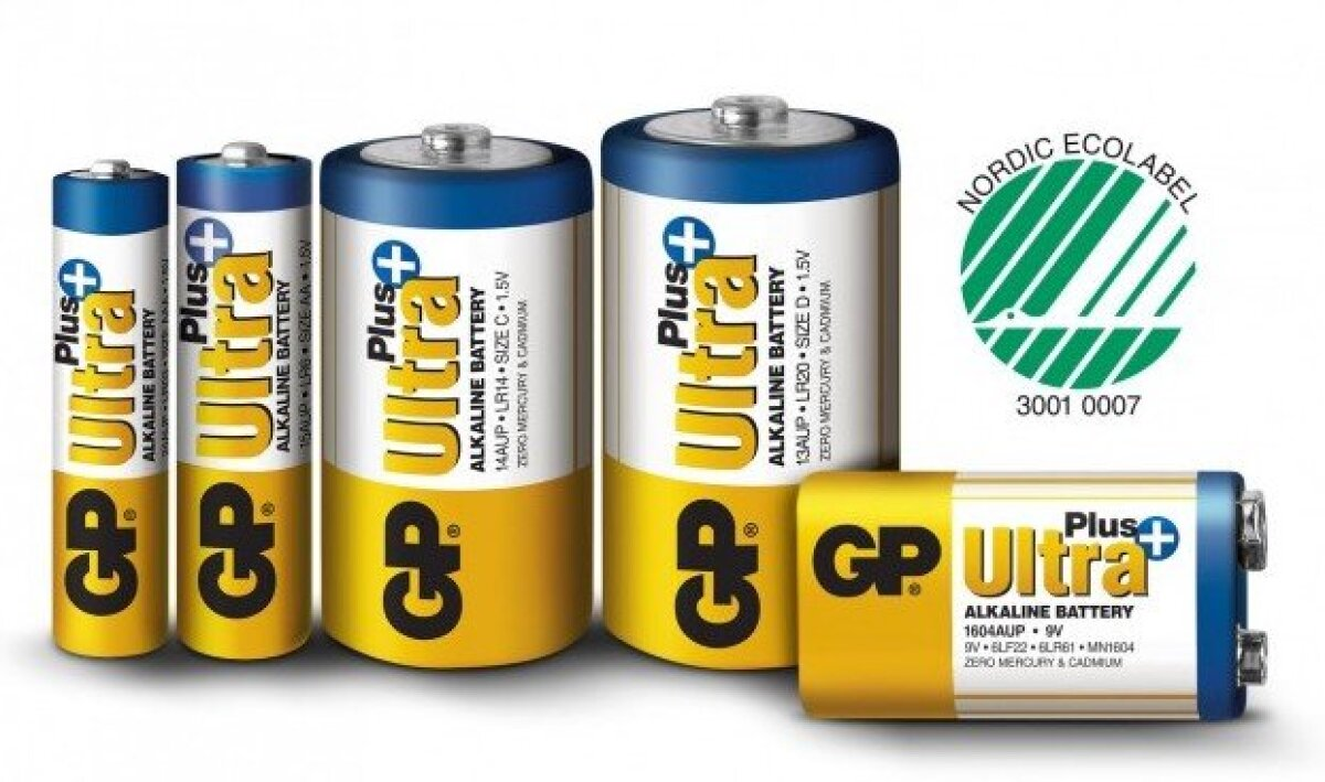 GP-Ultra-Plus Alkaline patareid