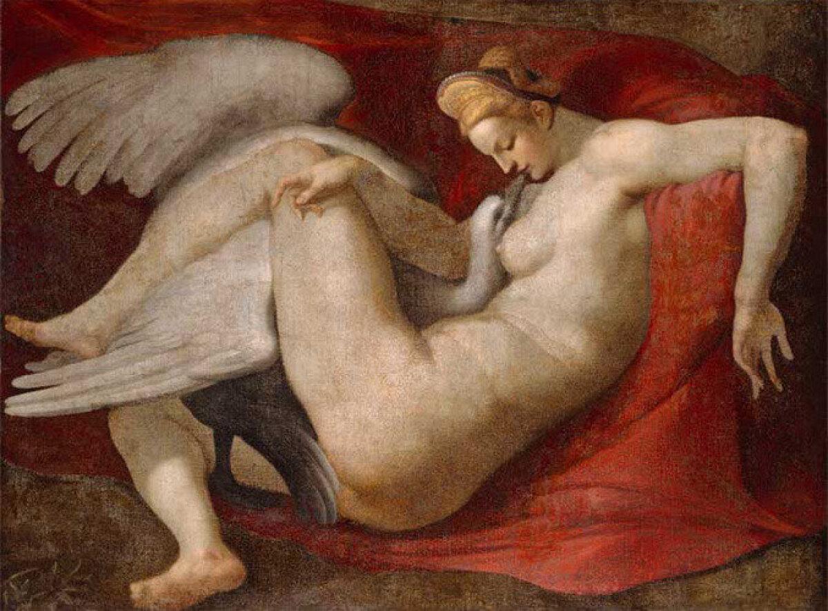 Replika Michelangelo 16. sajandi maalist Leda ja luik