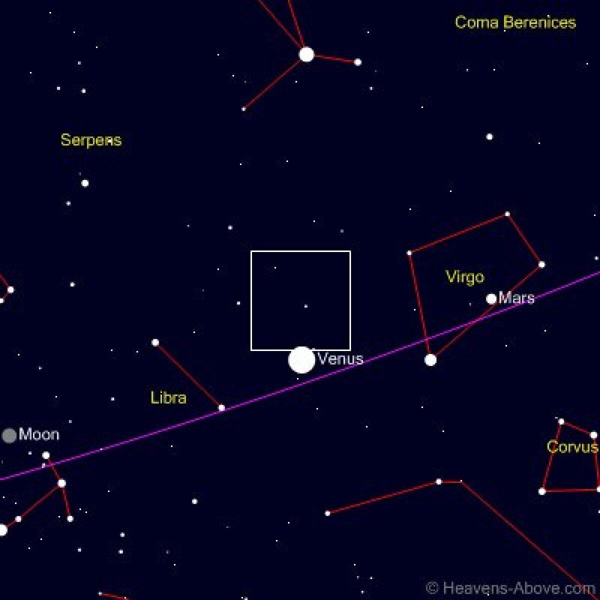 Heavens-Above: Catlina taevakaardil 10. detsembril, Tartust vaadatuna. astronoomia.ee