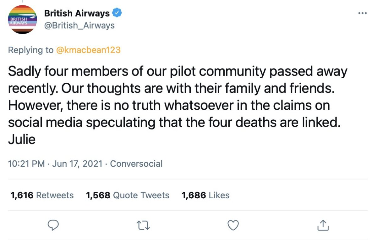 Lennufirma vastus väidetele