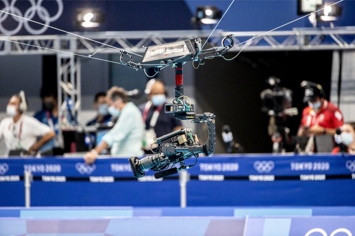 Ämblikkaamera Tokyo olümpiaujulas.