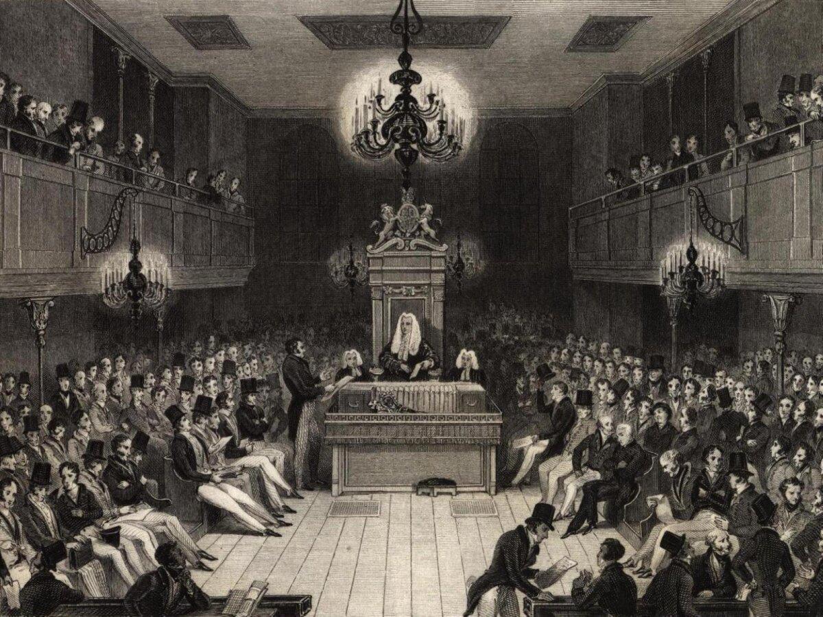 Briti parlamendi Alamkoda, 1834.