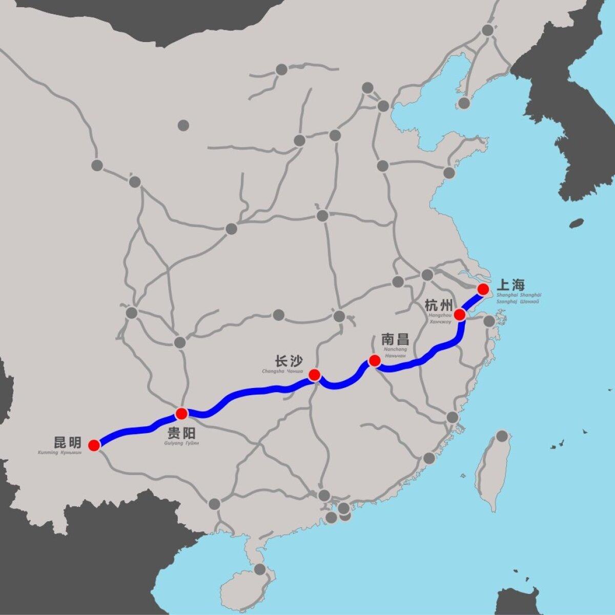 Shanghai-Kunmingi raudtee Hiinas