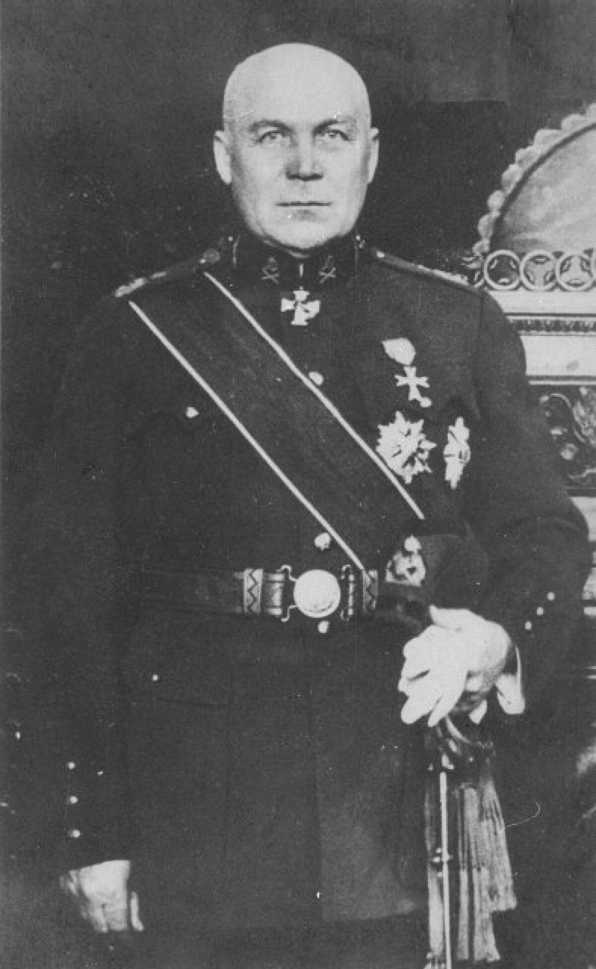 Kindralmajor, ülemlinnapea Aleksander Tõnisson. Foto: Eesti Rahva Muuseum