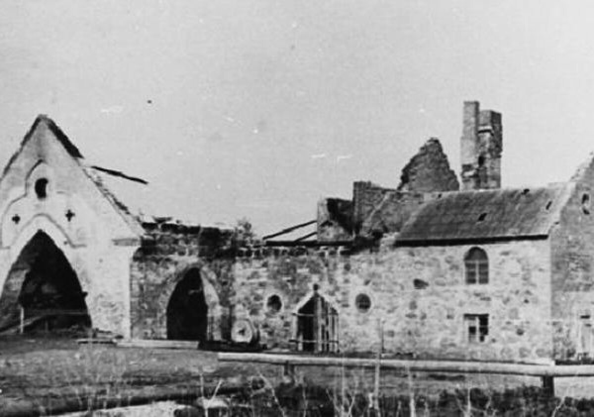 Rutikvere vesiveski peale järjekordset tulekahju 1940- datel aastatel