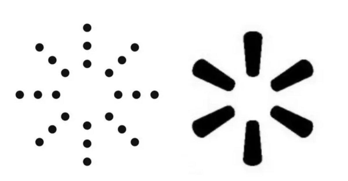 Yeezy uus logo vasakul, Walmarti logo paremal