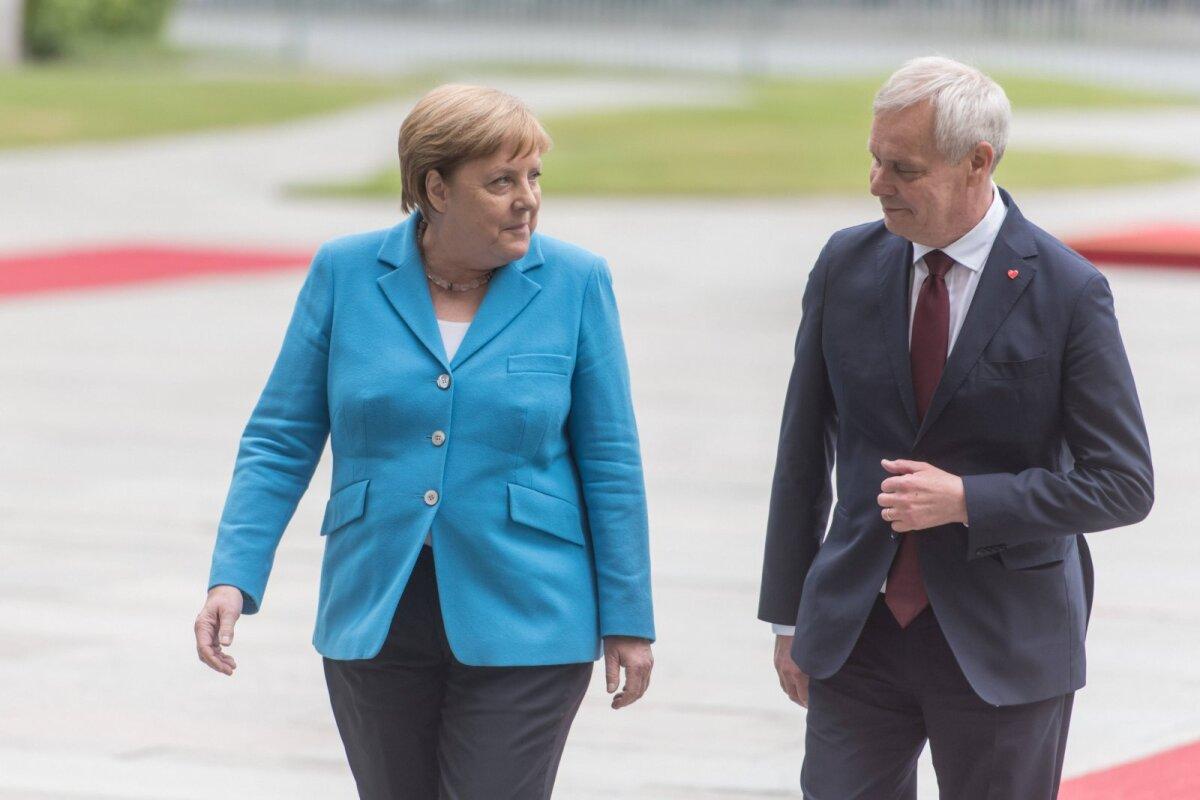 Antti Rinne ja Angela Merkel 2019. aastal Berliinis.