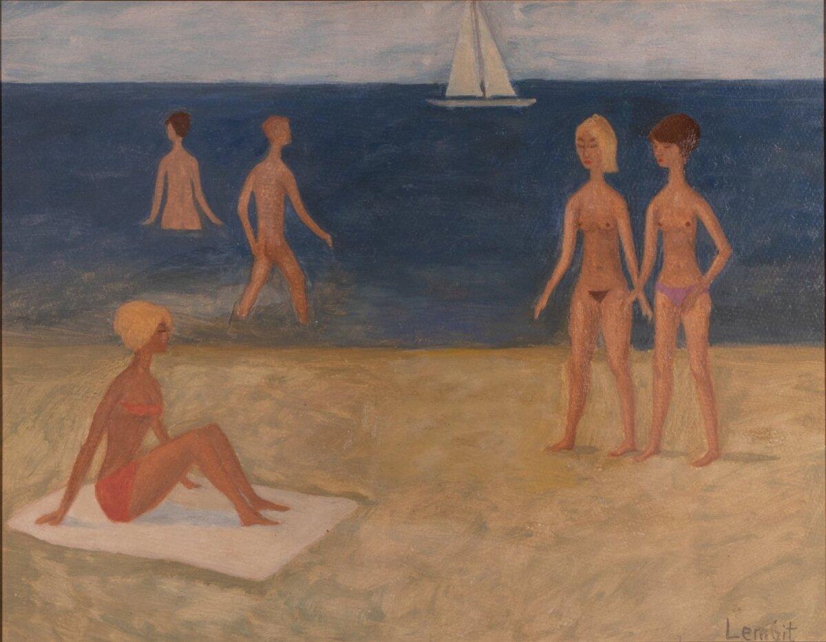 "Lembit Sarapuu ""Rand"" (1960ndad, õli, papp, 40,5 x 51,5 cm). Alghind 5900, haamrihind 7400 eurot."
