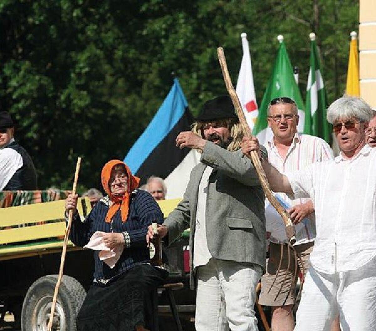 Rummu Jürile lisasid vürtsi Pärnu-Jaagupi pasunakoori mehed.