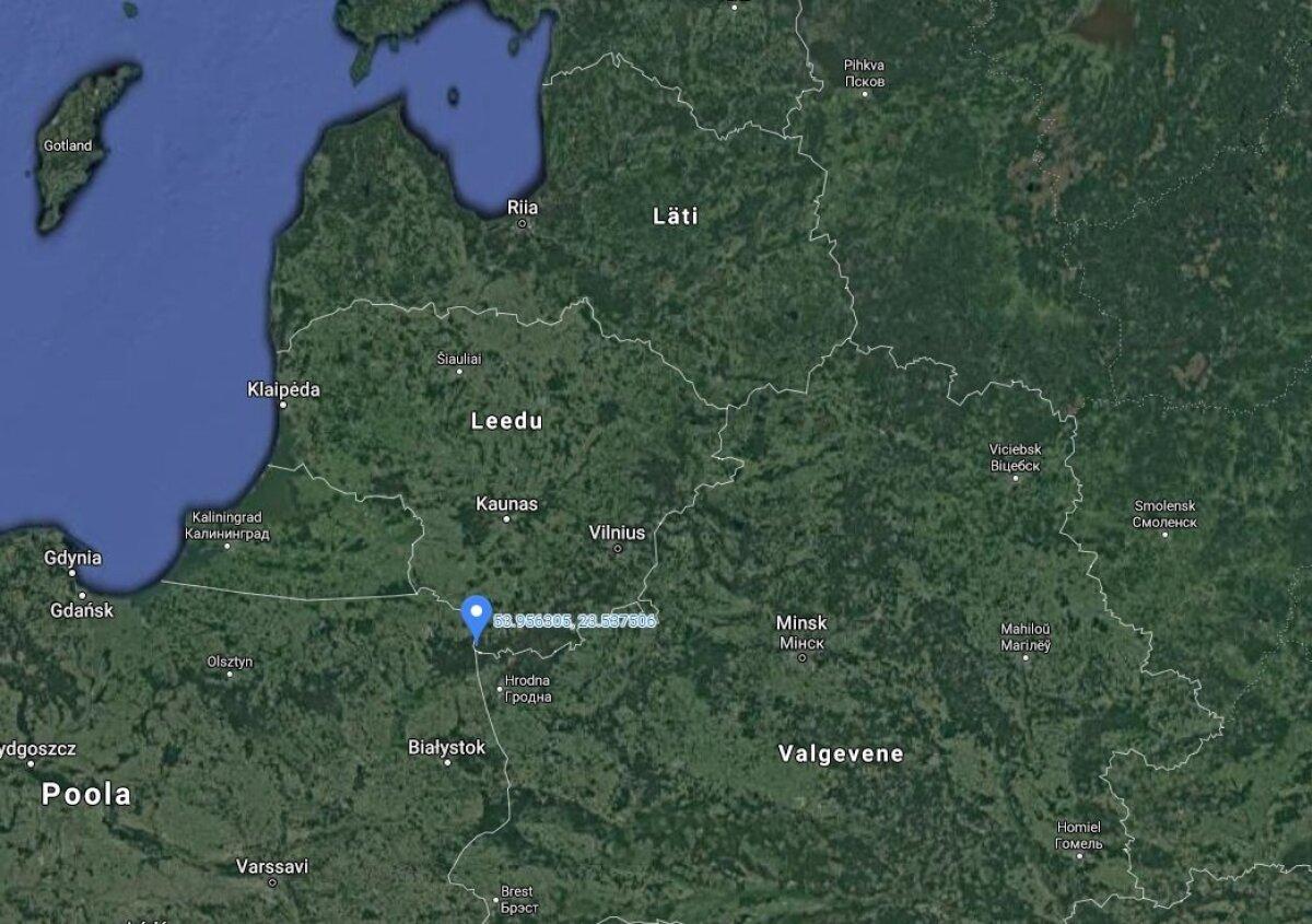 Poola, Leedu ja Valgevene piirkoht