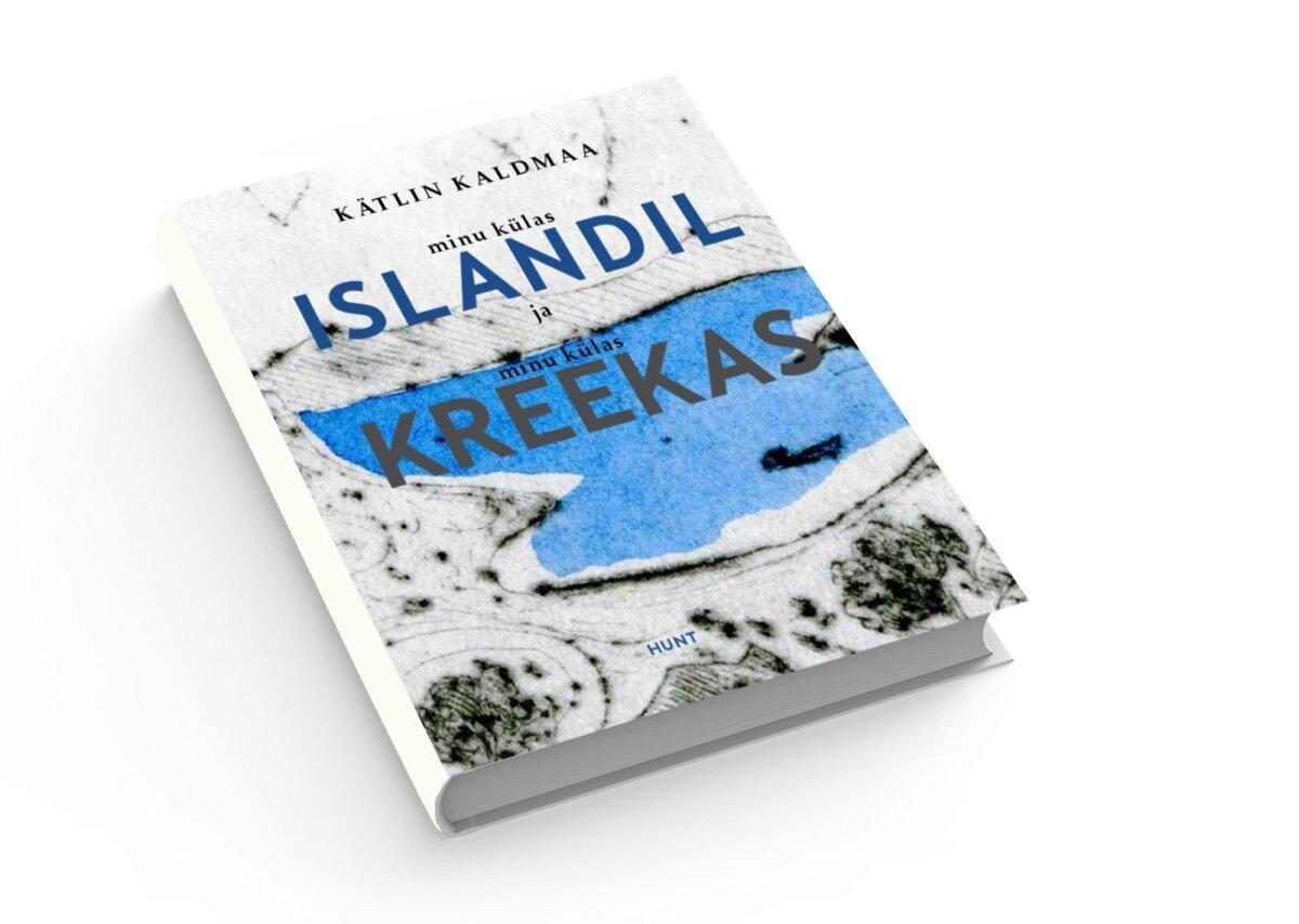 """Raamat """"Minu külas Islandil ja minu külas Kreekas""""."""