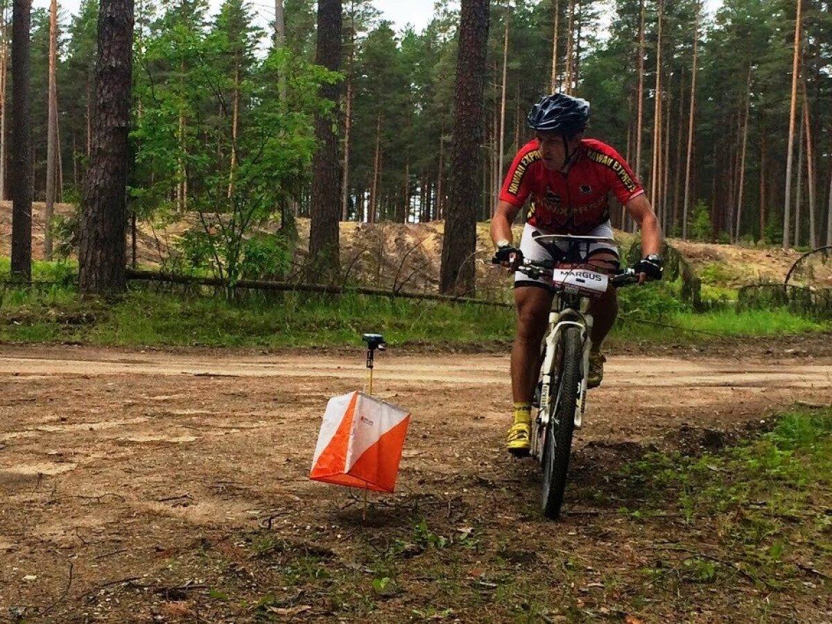 Finišeerimas võitjana rahvusvahelisel Läti rattaorienteerumise Tuuril