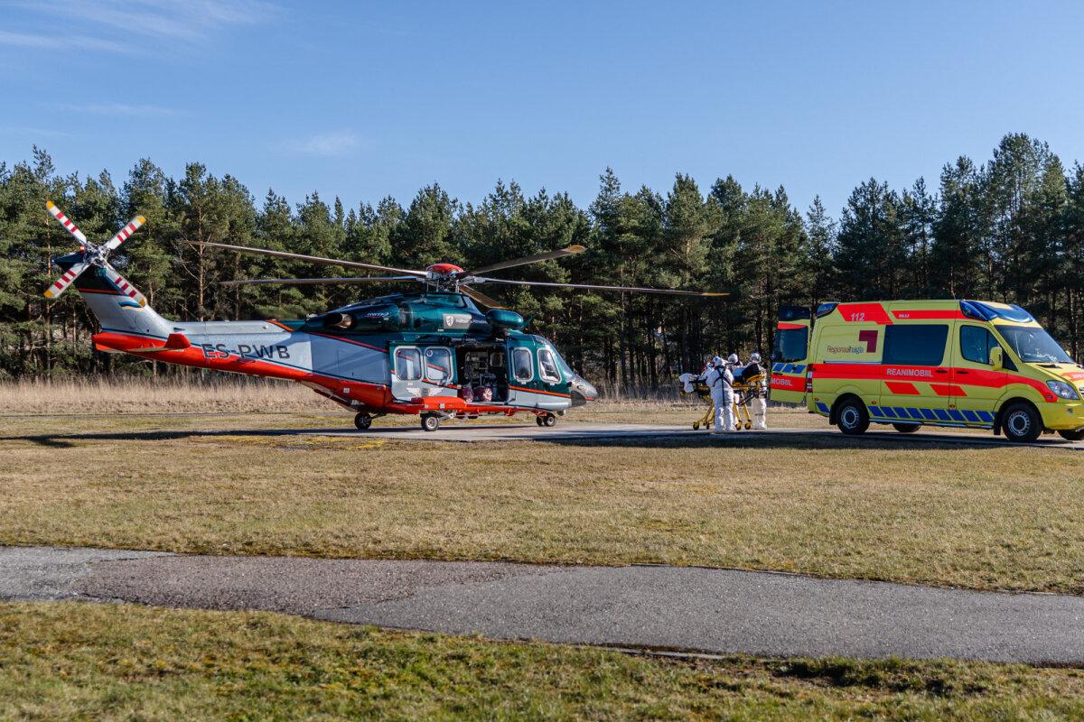 PPA kopter tõi haige Saaremaalt Tallinnasse