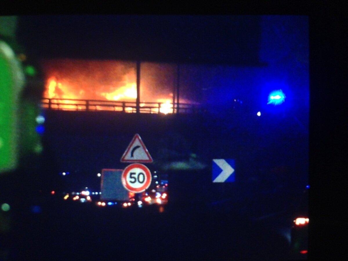 Põleng sillal