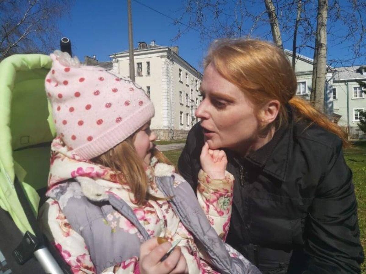 Ариша с мамой Светой