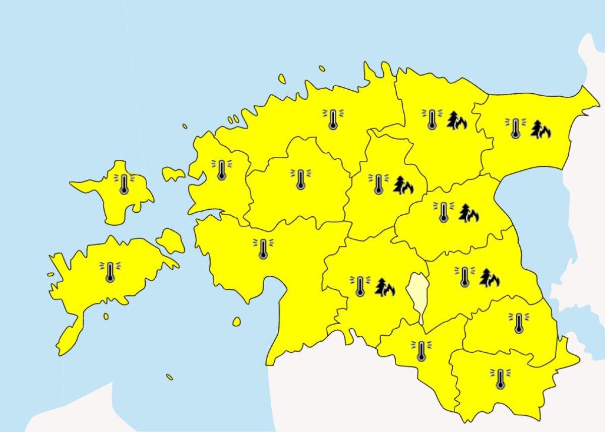Hoiatus kogu Eestile.