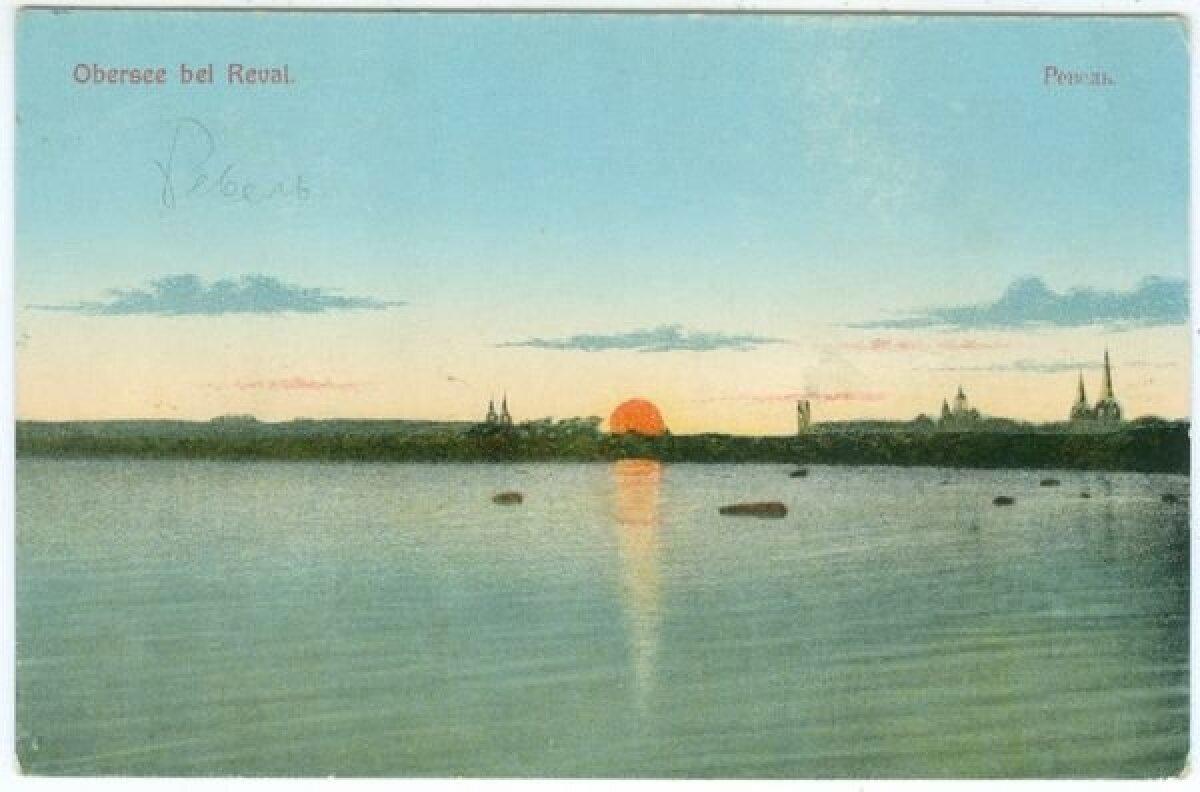 Vaade Ülemiste järvelt Tallinnale 20. sajandi alguses.