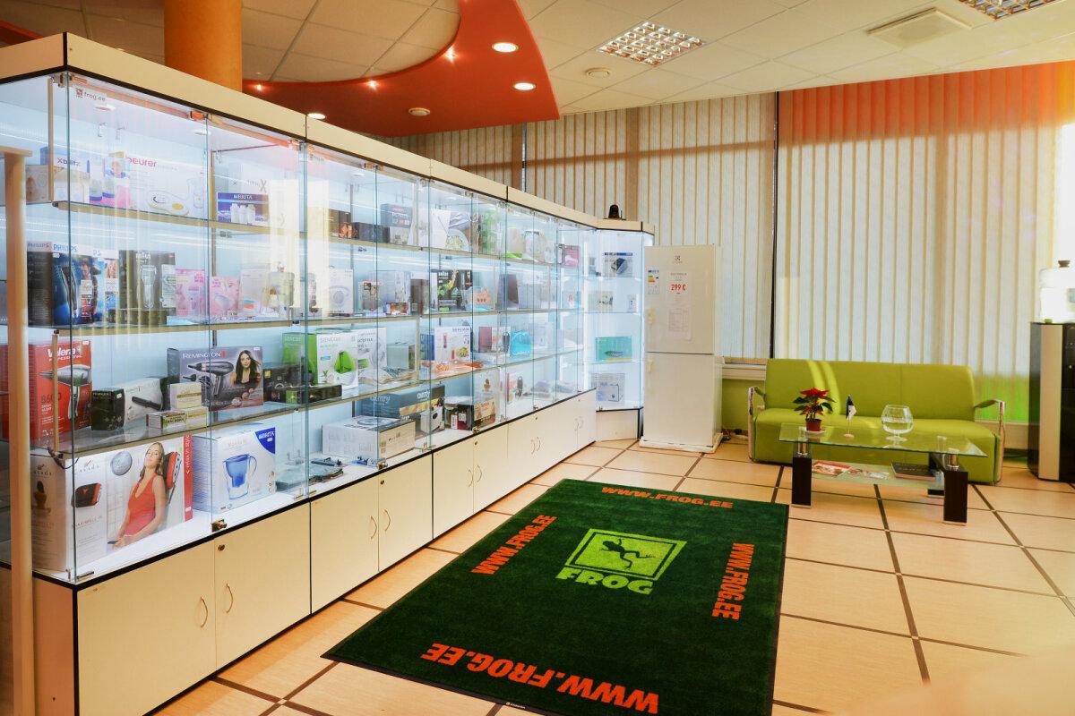 Забрать заказанный товар можно и в магазине Frog.ee в центре Таллинна.