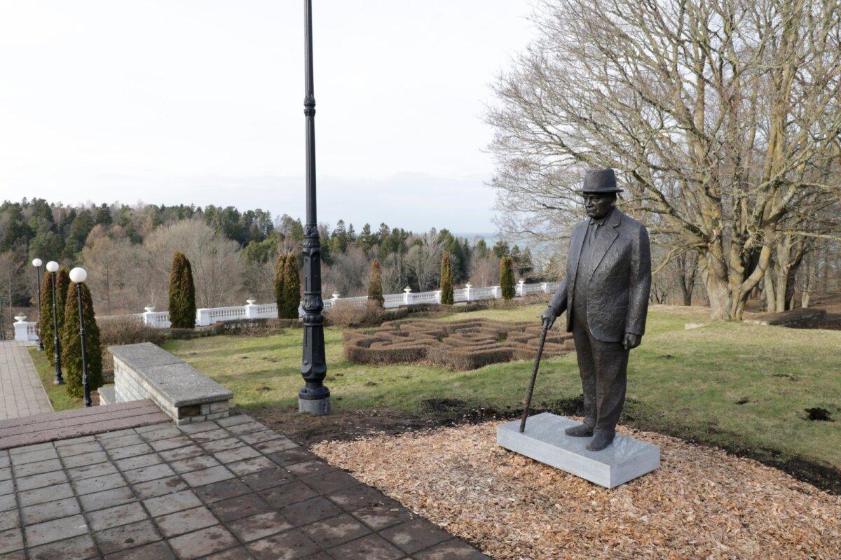 Konstantin Pätsi ausamba oma kohale paigutamine ja katetest vabastamine 20. veebruaril 2020 Oru pargis
