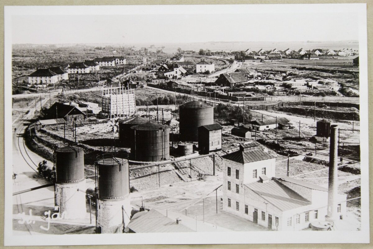 Kohtla-Järve. Vaade Kohtla-Järve asundusele ja osale vabriku territooriumile