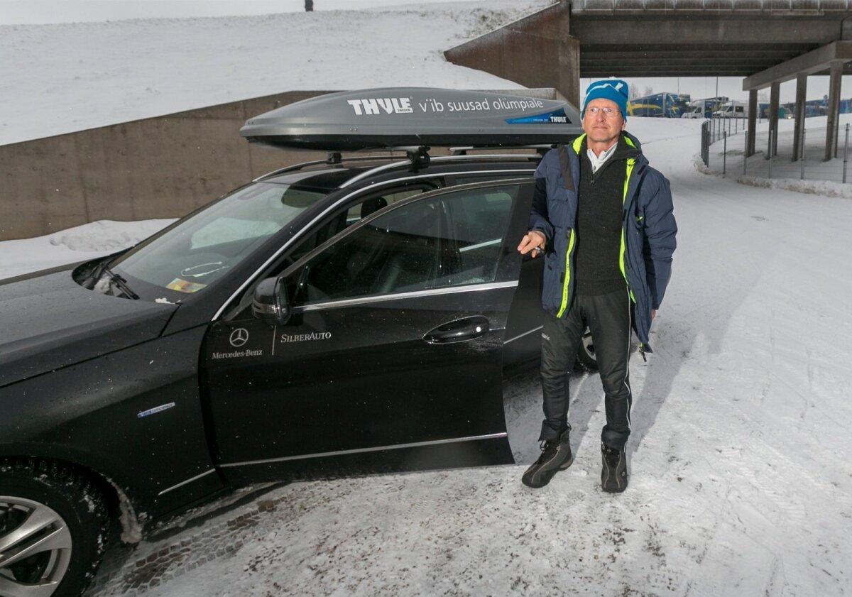 2015: Otepää MK etapile saabub Alaver ikka Silberauto kirjades autoga.