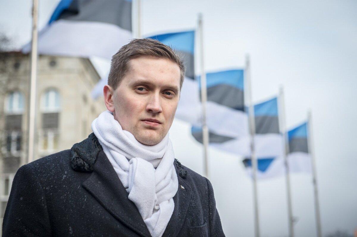 """Riigikogu noorim liige Jaak Madison. """"Rahvuslus peab olema igas riigis, mis tahab, et riik säiliks ja rahvas elaks hästi,"""" ütleb ta."""