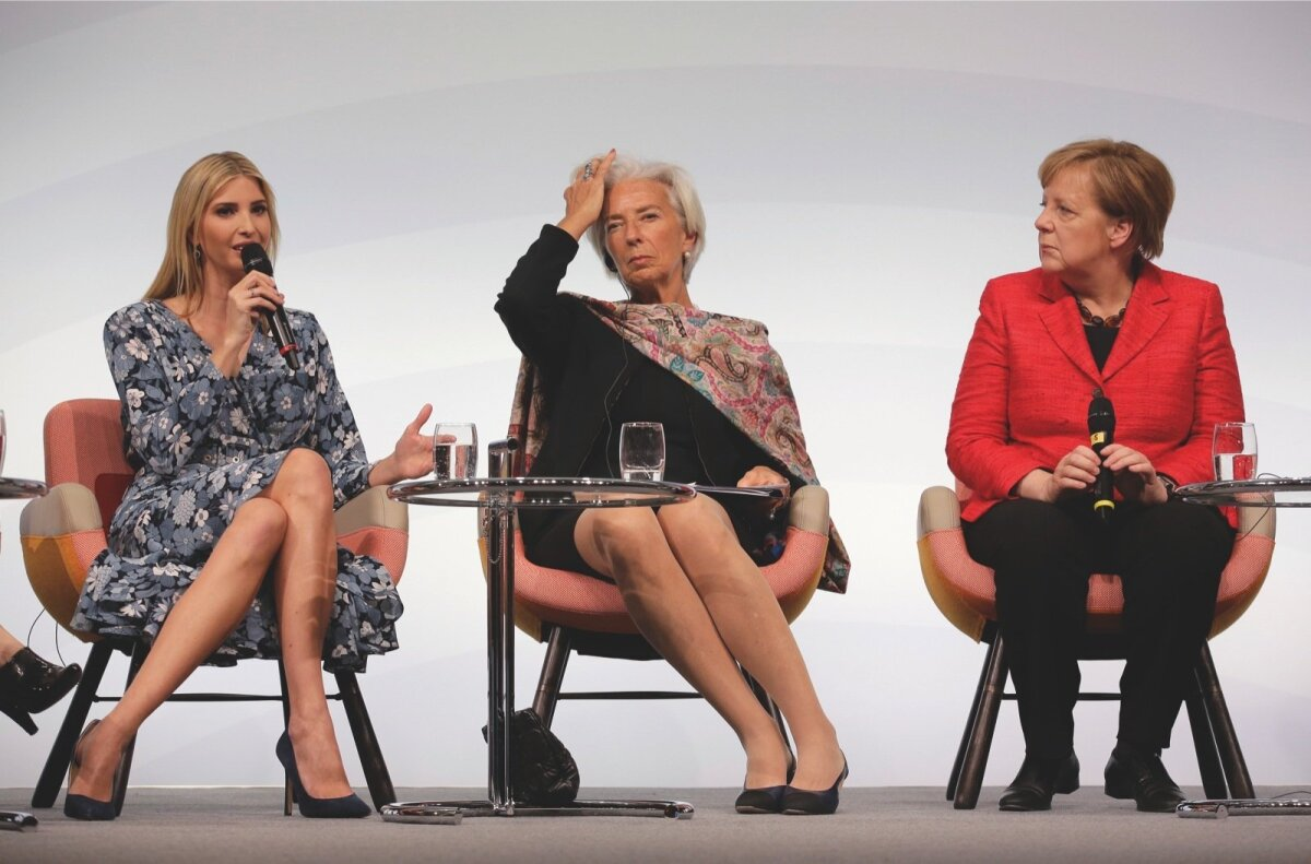 Ivanka Trump, Christine Lagarde, Angela Merkel