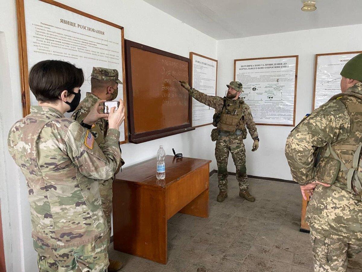 На занятиях с военными из США