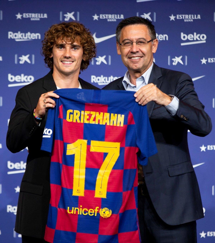 ANTOINE GRIEZMANN PRESENTED IN BARCELONA