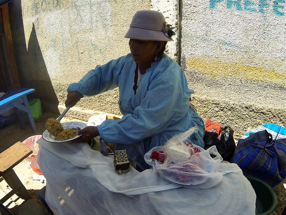 Maitsev quinoa Boliivias.