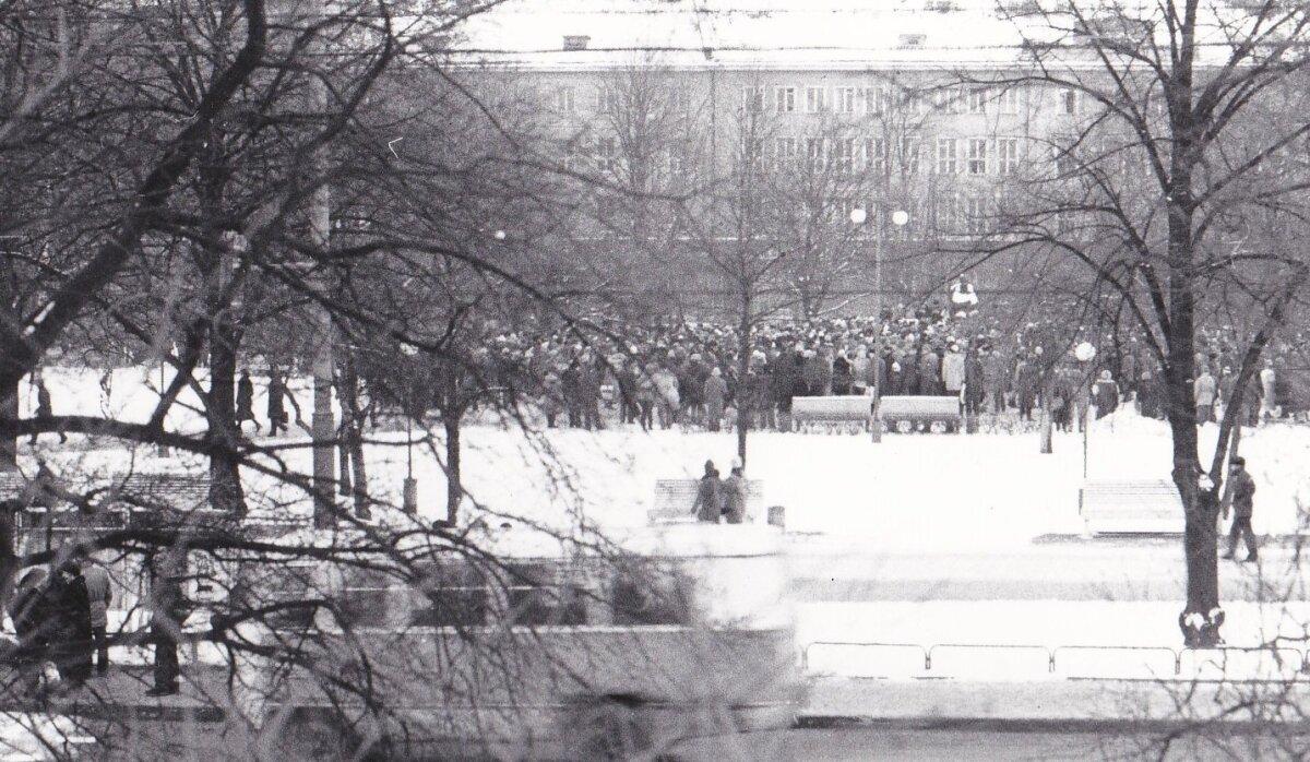 Tammsaare juures 24. veebruaril 1988