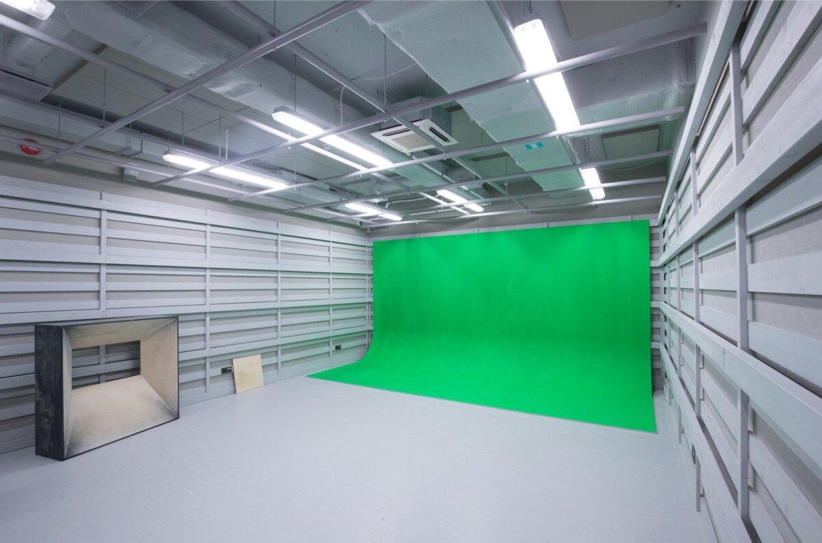 Greenscreen, millega saavad külastajad end filmide osalisteks võluda.