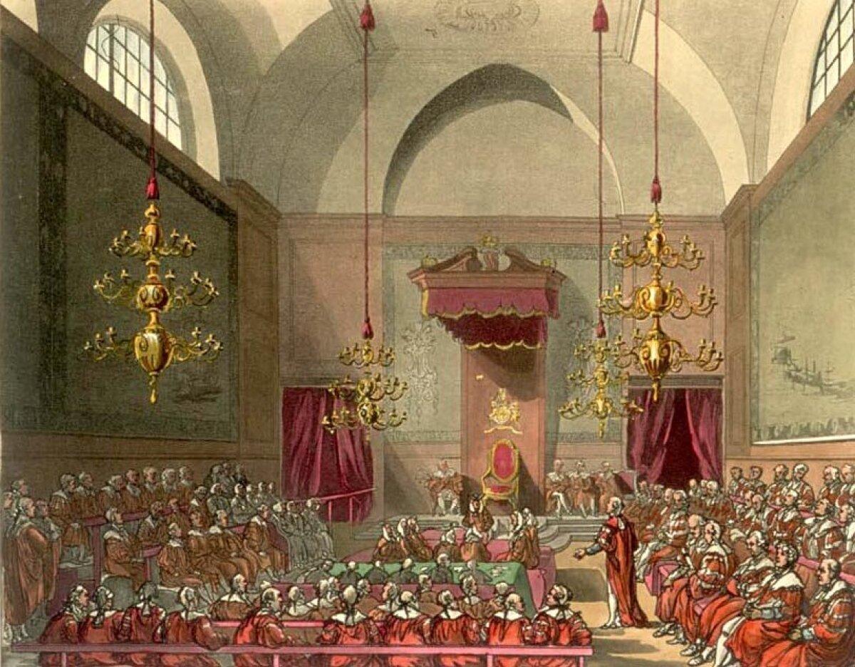 Briti parlamendi lordide koda, 1809. aastal.