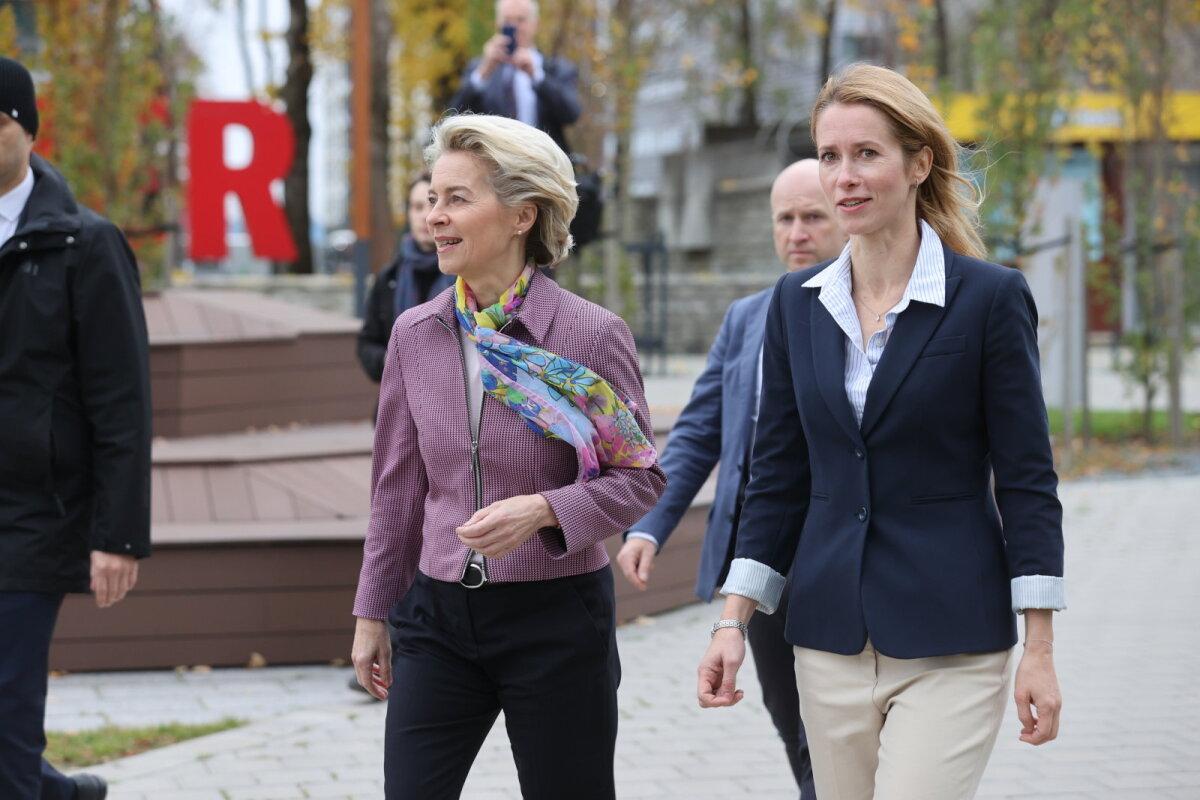 Ursula von der Leyen ja Kaja Kallas Ülemiste linnakus